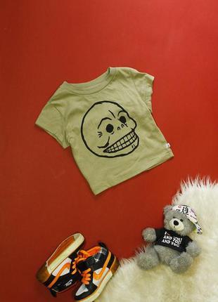 Акция стильная футболка на мальчика 6-9 месяцев / 74см от моло...
