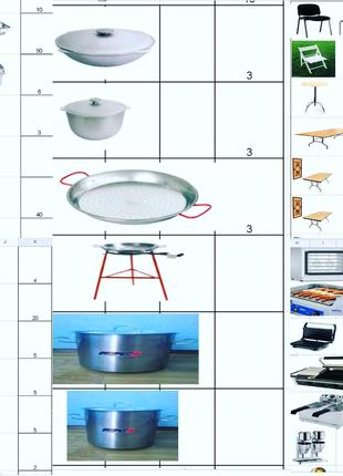 Аренда посуды, столов, мебели, мангалов