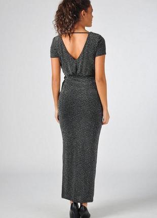 Платье женское макси vila м л с люрексом