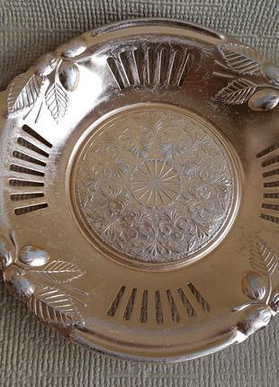 Тарелка, поднос алюминиевый СССР