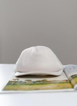 Ация белая кепка с сетчатой вставкой, снепбек, бейсболка