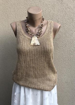 Трикотаж блуза,лен100%,майка,жилетка,