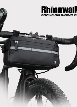 Сумка на руль водонепроницаемая Rhinowalk 3л чёрная велосумка