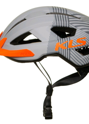 Шолом велосипедний KLS Daze S M L Сірий з оранжевим 858501939