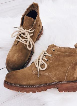 Женские зимние замшевые ботинки