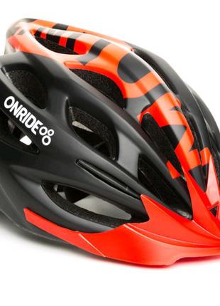 Шолом велосипедний ONRIDE Mount M L Чорний з червоним 6907890