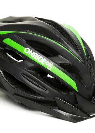 Шолом велосипедний ONRIDE Grip M LЧорний з зеленим 690789000