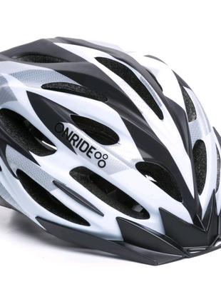 Шолом велосипедний ONRIDE Grip M L Білий з чорним 69078900012