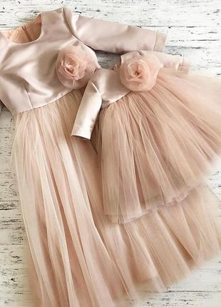 Фатиновое платье для девочки на годик