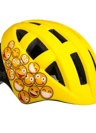 Велосипедний дитячий шолом ONRIDE Bud S M Жовтий з чорним 693