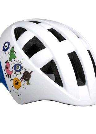 Велосипедний дитячий шолом ONRIDE Bud S M Білий з синім 69316