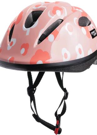Велосипедний дитячий шолом Green Cycle MIA Рожевий HEL-53-3