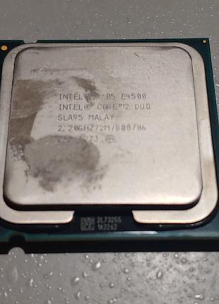 Процессор сокет 775 Intel Core 2 Duo E4500 2.2GHz 2M 800МГц шина