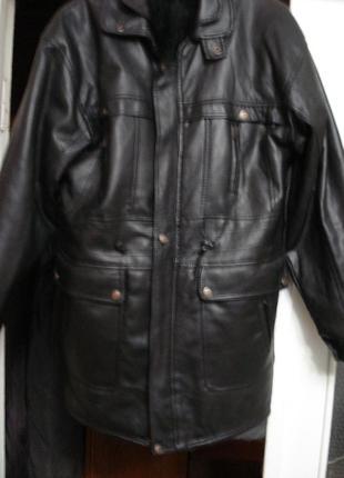 Продам кожаную мужскую куртку зимнюю
