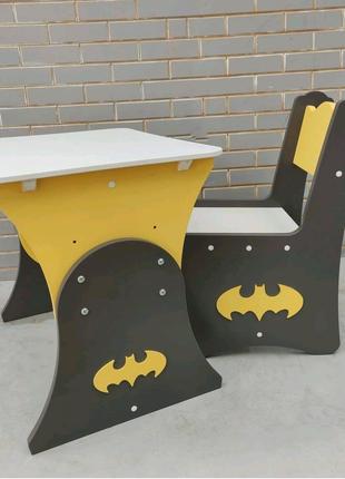 Детский столик для мальчика, столик Бэтмен