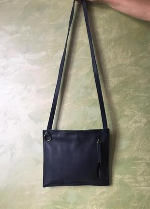 Кожаная испанская сумка через плечо, кросс-боди, натуральная к...