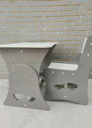 Детский стол для мальчика, стол и стул, детская мебель