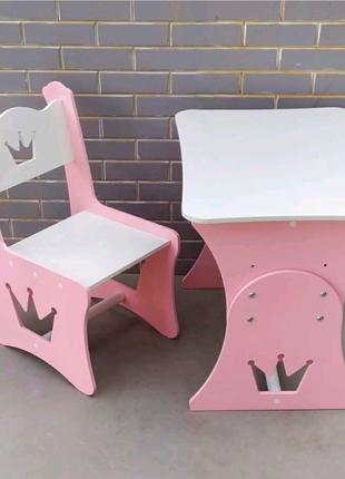 Детский стол МДФ, детский столик, стол и стул