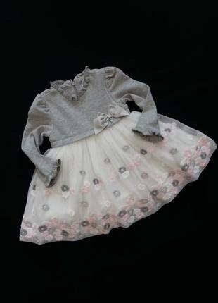 Нарядное теплое платье mayoral (испания) на 12 месяцев (размер...