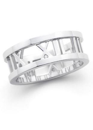 🏵стильное кольцо в серебре 925 цифры часы, 18 р., новое! арт. ...