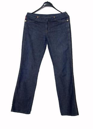 Женские синие джинсы прямого кроя