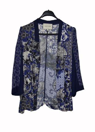 Блейзер кардиган пиджак накидка в цветочный принт