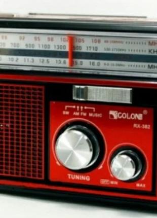Радиоприемник RX-381 USB+SD радио с фонарем Golon