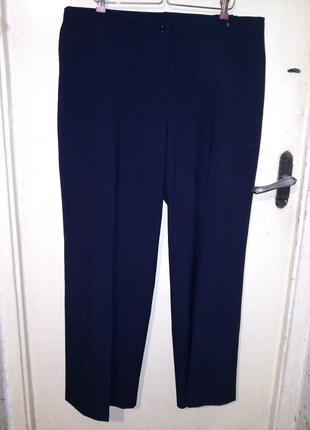 Стрейч,плотные,классич-повседн,тёмно-синие брюки,бол.18-22рр.,...