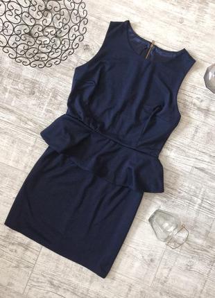 Платье классическое с баской