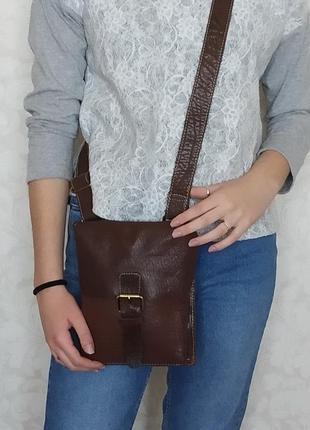 статусная мужская сумка Ashwood, Англия, натуральная кожа