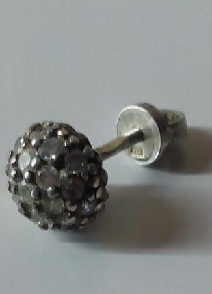 Серьга серебро  925 пробы