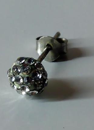 Серьга серебро  925 пробы,