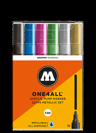 Molotow / Набор маркеров Molotow ONE4ALL 227HS Metallic-Set