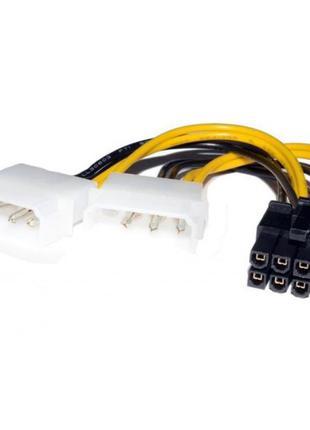 Кабель живлення Atcom 8 pin - 2 molex