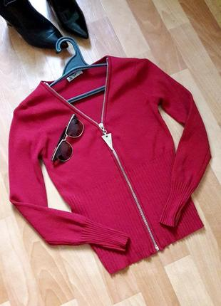 Крутой свитерок кардиган на молнии