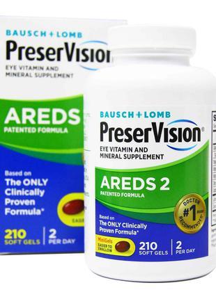 Добавка для здоровья глаз с витаминами и минералами Bausch & Lomb