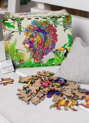 Пазл з фанери. лев. розмір, 150 елементів.
