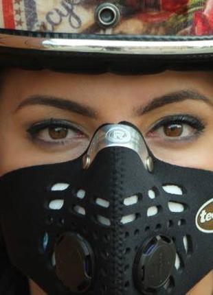 Лучшая защитная маска Respro от выхлопных газов и смога под шлем