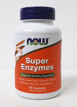 Cуперферменты Now Foods Super Enzymes, 90 капсул