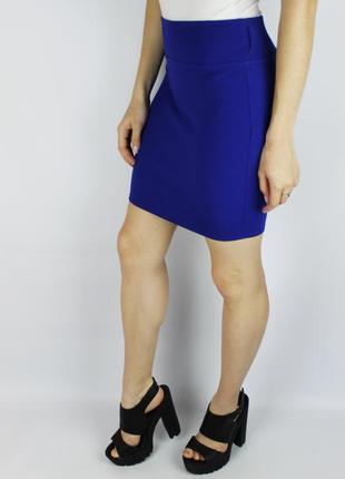 Акция стильная эластичная  мини юбка со структурной тканью