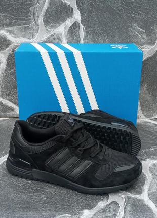Мужские кроссовки adidas zx 750 черные,летние