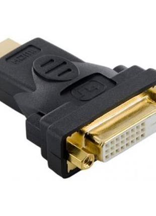 Перехідник Atcom DVI 24pin (F) - HDMI (M), чорний