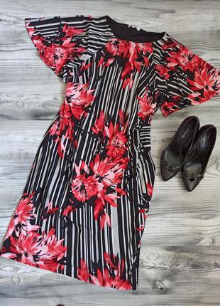 "Яркое платье с рукавами ""крыло бабочки"" батал 54 размер от nig..."