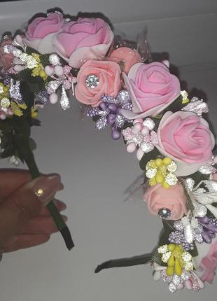 Миленький ободок с цветами