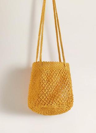 Mango новая плетеная ажурная женская сумка авоська от манго 2 ...