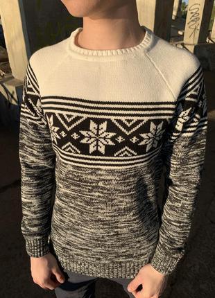 Крутой мужской свитер мужская одежда осень весна