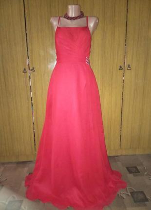 Вечернее, шифоновое  платье в пол kelsey rose