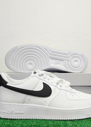 Nike Air Force 1 '07 White Black Pebbled Leather Sneakers CT2302-