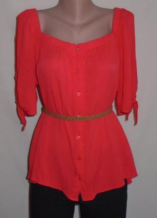 Блуза-рубашка ткань жатка/блузка