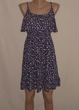 Сарафан мини с мелкими цвкточками/платье/плаття/сукня